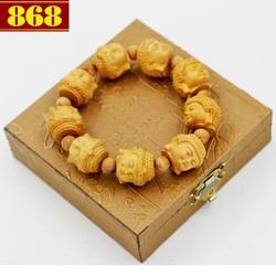 Vòng chuỗi tay gỗ Hoàng đàn khắc tượng Phật A di đà