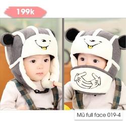 Mũ lông kèm khẩu trang cho bé