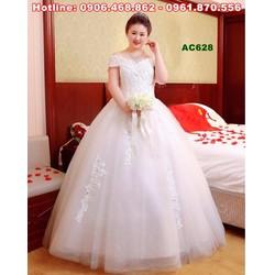 Váy cưới vai ngang cho cô dâu dáng mập AC626