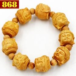 Chuỗi tay gỗ Ngọc am khắc tượng Phật A di đà