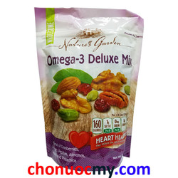 Hạt sấy khô Nature's Garden Omega-3 Deluxe Mix của Mỹ 737g