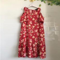 Đầm bông rớt vai xinh xắn mặc nhà và đi chơi