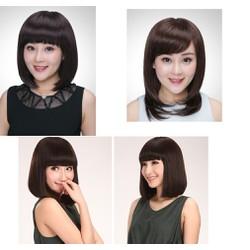 tóc giả làm từ tóc thật sx theo yêu cầu