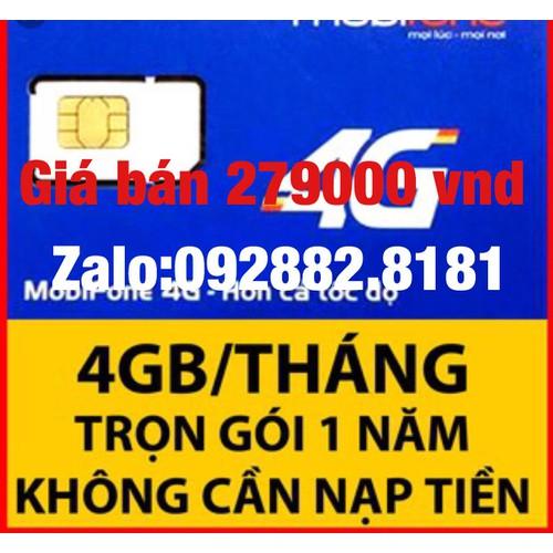 sim 4G Mobilephone trọn gói 1 năm