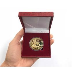 Đồng xu mừng tuổi năm mới mậu tuất 2018. Tặng kèm hộp