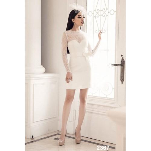 Đầm body trắng phối ren tay dài - 5158781 , 8485098 , 15_8485098 , 470000 , Dam-body-trang-phoi-ren-tay-dai-15_8485098 , sendo.vn , Đầm body trắng phối ren tay dài