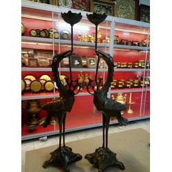 Đôi hạc thờ cúng cao 45cm
