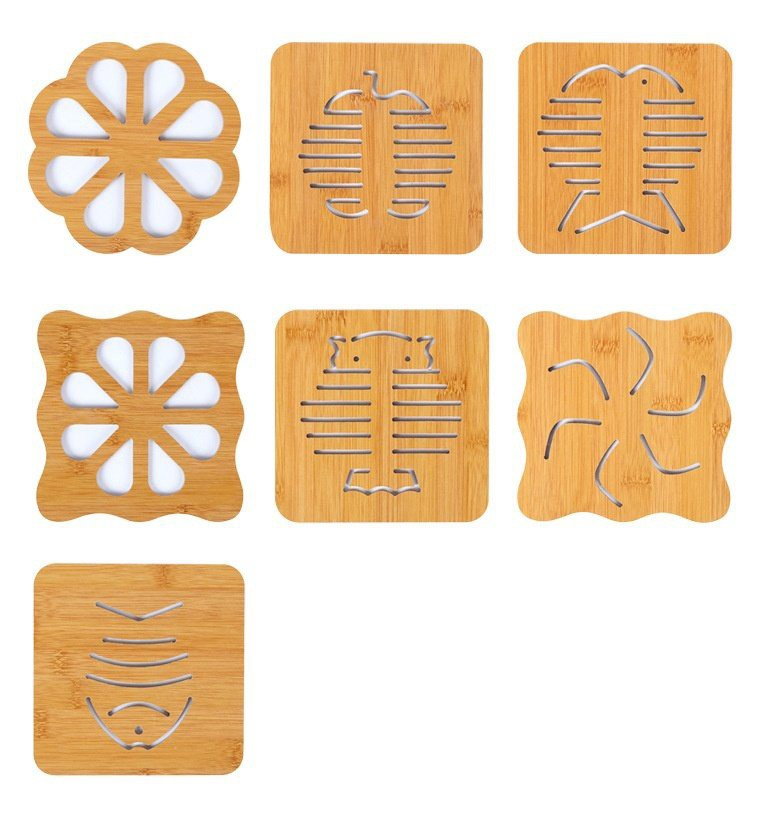 Combo 5 Miếng lót nồi gỗ 15