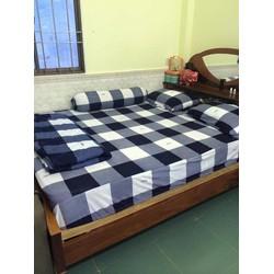 Xả kho cuối năm trọn bộ ga giường thun Hàn Quốc giá rẻ-thuncaro01