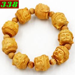 Chuỗi tay gỗ Hoàng đàn khắc tượng Phật A di đà