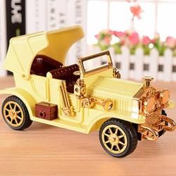 Hộp nhạc hình xe điện cổ vàng