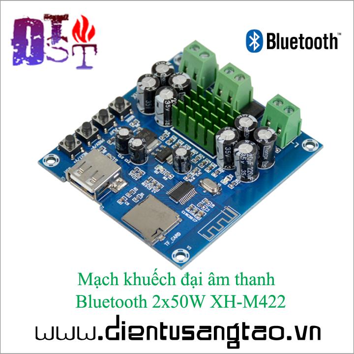 Mạch khuếch đại âm thanh   Bluetooth 2x50W XH-M422 1