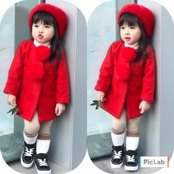 Áo dạ quả bông cho bé gái