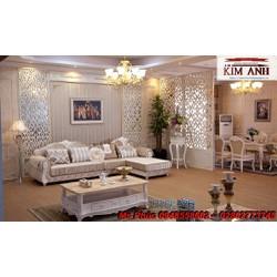 Sofa cổ điển góc l đẹp, giá rẻ sản xuất theo yêu cầu