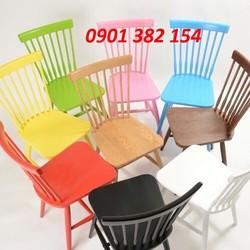 Ghế gỗ cafe văn phòng đa màu