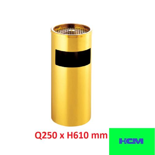 Thùng rác inox gạt tàn mạ gold Ø250 x H610mm - 5167223 , 8500791 , 15_8500791 , 605000 , Thung-rac-inox-gat-tan-ma-gold-250-x-H610mm-15_8500791 , sendo.vn , Thùng rác inox gạt tàn mạ gold Ø250 x H610mm