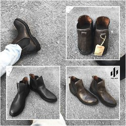 LEATHER CHELSEA BOOTS | BLACK AND DARK BROWN