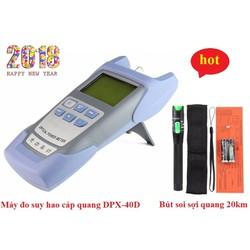 Máy đo suy hao cáp quang DPX-40D + Bút dò lỗi sợi quang 20Km