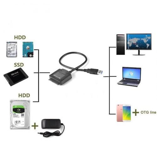 Cáp chuyển USB 3.0 sang SATA cho ổ cứng 2.5 và 3.5 inch - 5167304 , 8501401 , 15_8501401 , 299000 , Cap-chuyen-USB-3.0-sang-SATA-cho-o-cung-2.5-va-3.5-inch-15_8501401 , sendo.vn , Cáp chuyển USB 3.0 sang SATA cho ổ cứng 2.5 và 3.5 inch