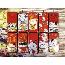 Ốp lưng iPhone 4-4s dẻo hình mèo Thần tài May mắn