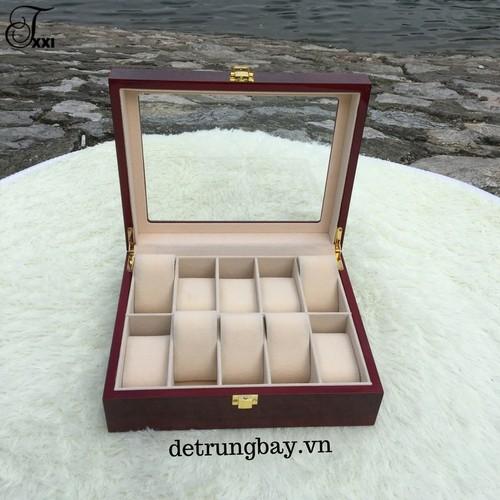 hộp đựng đồng hồ bằng gỗ - 10 ngăn - 5161921 , 8490742 , 15_8490742 , 600000 , hop-dung-dong-ho-bang-go-10-ngan-15_8490742 , sendo.vn , hộp đựng đồng hồ bằng gỗ - 10 ngăn