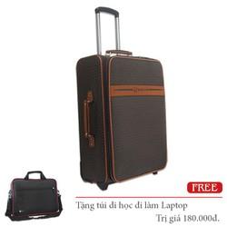 Vali kéo 2 bánh xe da PU thời trang hành lý 20Kg không thấm nước TL044