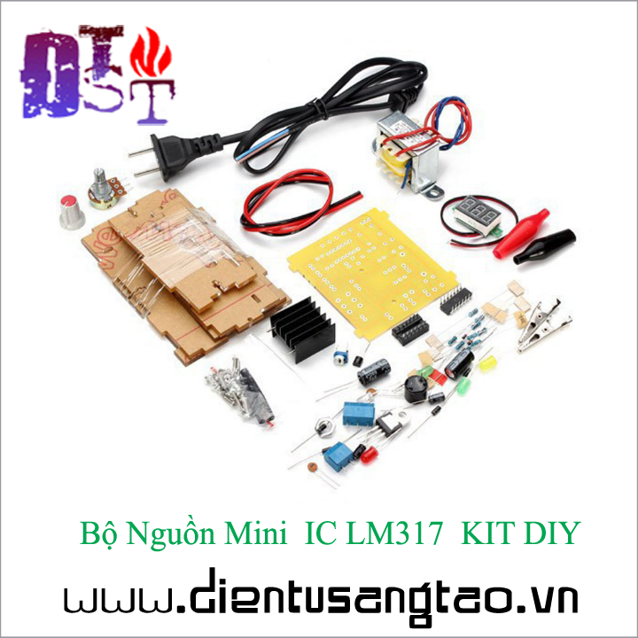 Bộ Nguồn Mini  IC LM317  KIT DIY Tự ráp 11