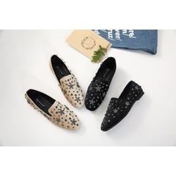 Giày lười đính đá hình sao biển mã 996-1