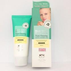 Sữa Rữa Mặt Ốc Sên Beau Shop Pure Skin Foam Cleansing