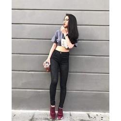 Quần jeans thun nữ lưng cao hàng shop cao cấp