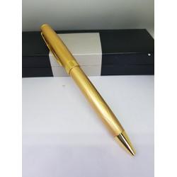 Bút viết Bi xoáy vặn ra ngòi vỏ hợp kim mạ màu vàng BP388-G