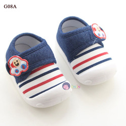G08 - Giày Vải Sọc Màu Xinh Xắn