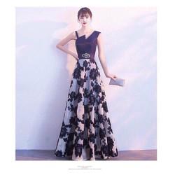 HÀNG MỚI HOT-Đầm xoè maxxi dây cách điệu tùng ren hoa eo