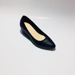 Giày Da Đế Xuồng Nữ Cao 5cm