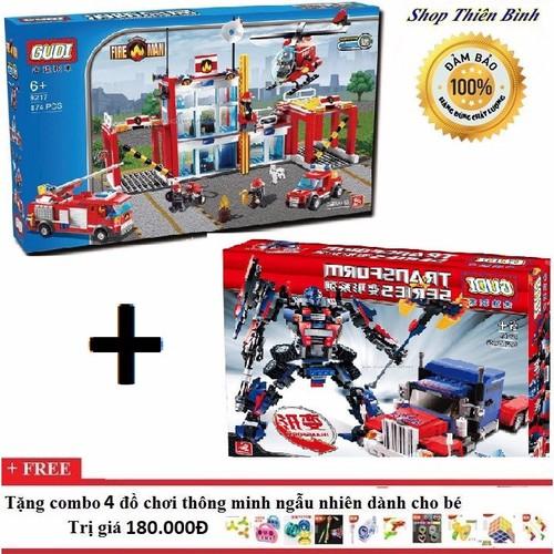 Lego xếp hình combo 2 bộ Gudi 8713 + 9217 - 5170093 , 8506500 , 15_8506500 , 1180000 , Lego-xep-hinh-combo-2-bo-Gudi-8713-9217-15_8506500 , sendo.vn , Lego xếp hình combo 2 bộ Gudi 8713 + 9217