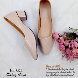 Giày cao gót 3P mũi nhọn HT G24 - CÓ SIZE 40, 41 CHO NGƯỜI CHÂN LỚN
