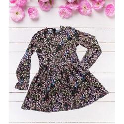 Đầm xòe voan hoa Quảng Châu