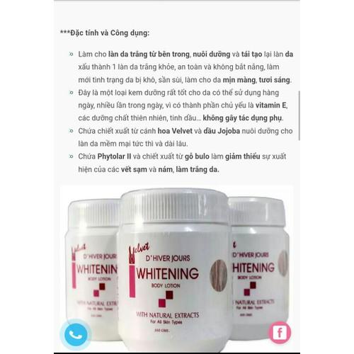 Kem dưỡng trắng da Whitenning 350g