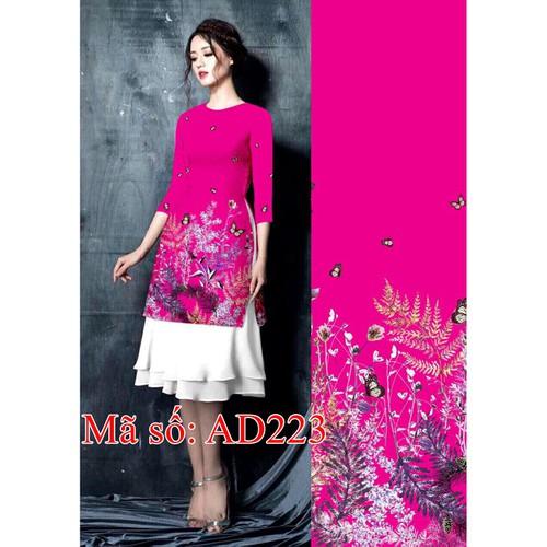 Set áo dài cách tân gấm nền hồng họa tiết hoa bướm kèm váy dập ly - 5171455 , 8507756 , 15_8507756 , 420000 , Set-ao-dai-cach-tan-gam-nen-hong-hoa-tiet-hoa-buom-kem-vay-dap-ly-15_8507756 , sendo.vn , Set áo dài cách tân gấm nền hồng họa tiết hoa bướm kèm váy dập ly
