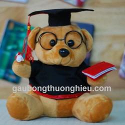 Gấu bông tốt nghiệp in logo trường giá rẻ