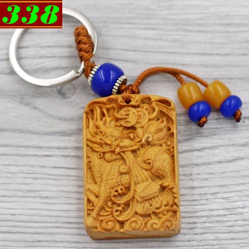 Combo 3 móc chìa khóa Kỳ lân - gỗ ngọc am