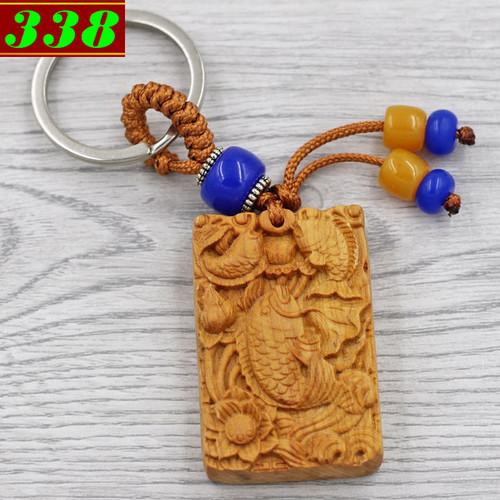 Combo 3 móc chìa khóa tượng cá - gỗ ngọc am