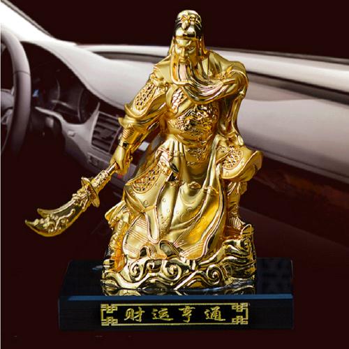 nước hoa xe hơi, phong thủy ô tô, tượng Quan Công Vân trường