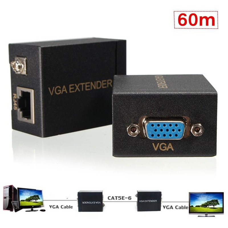 Bộ khuếch đại tín hiệu VGA 60m VGA Extender Repeater adapter 1