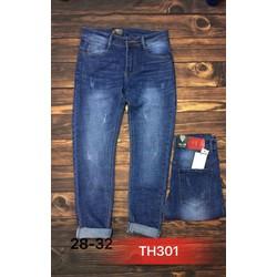 Quần jeans ống côn co giãn