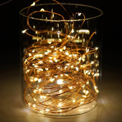 Đèn dây trang trí dùng pin 4 mét - đèn dây led trang trí