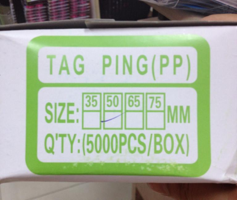 Dây nhựa treo nhãn mác [Ti xỏ, ti bắn, đạn xỏ, dây gắn mác tag]-5cm 5