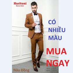 Bộ Đồ Vest,Dáng Trẻ,Haritoni Korea Style,Aó Vest Nam,co giãn Cao Cấp