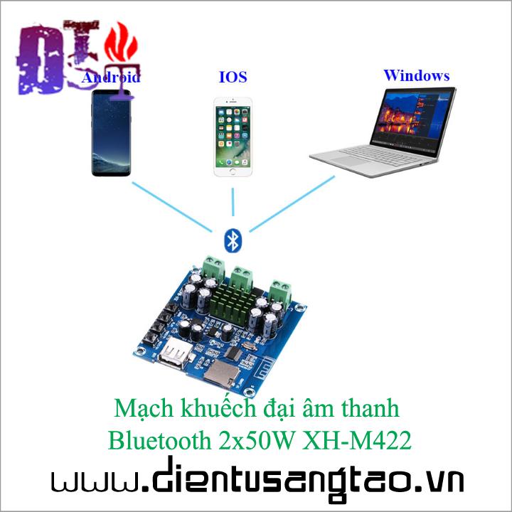 Mạch khuếch đại âm thanh   Bluetooth 2x50W XH-M422 4