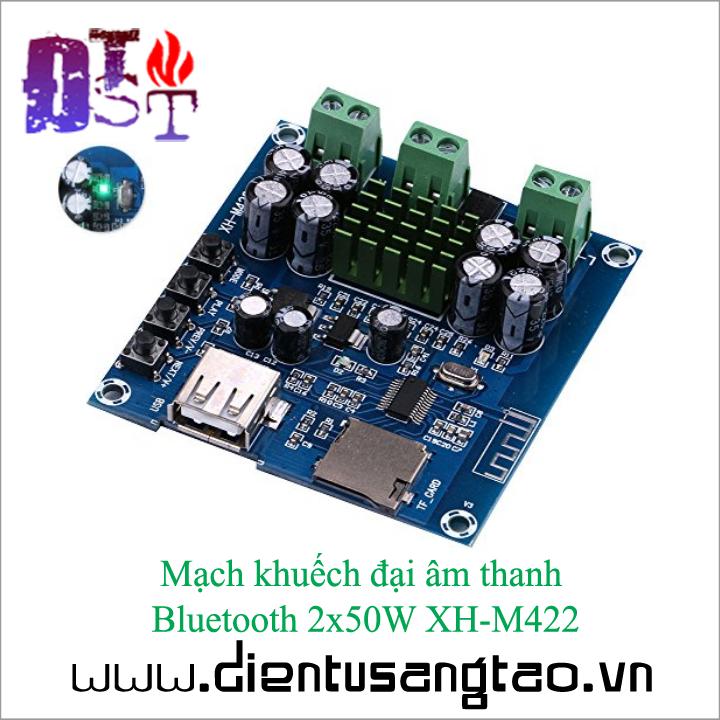 Mạch khuếch đại âm thanh   Bluetooth 2x50W XH-M422 3